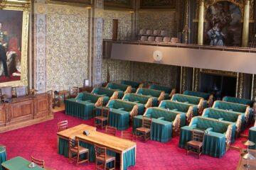 Lege vergaderzaal  van de eerste kamer